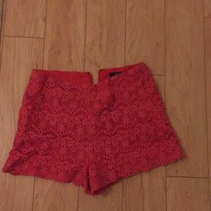 Ark and Co red lace shorts